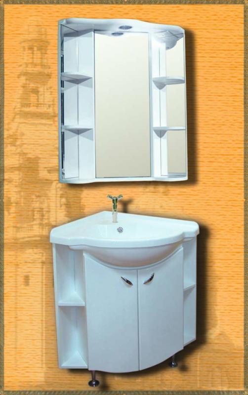 Rondo БелыйМебель для ванной<br>Мебель для ванной Два Водолея Rondo. Цвет белый. В стоимость входит тумба. Все остальное приобретается отдельно.<br>