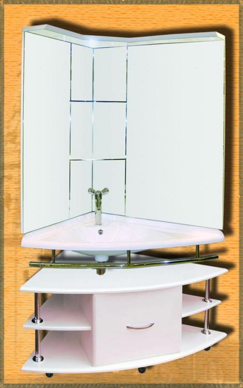 Hotel-7 правая белыйМебель для ванной<br>Мебель для ванной Два Водолея Hotel-7. Цвет белый. В стоимость входит раковина правая. Все остальное приобретается отдельно.<br>