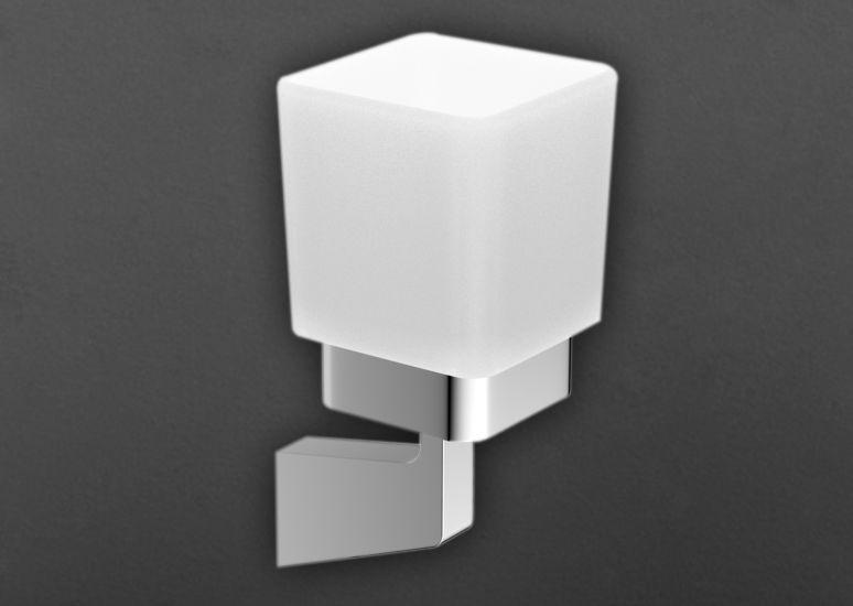 Techno AM-E-4168 ХромАксессуары для ванной<br>Стакан Art&amp;Max Techno AM-E-4168 с настенным держателем. Стакан выполнен из стекла.<br>