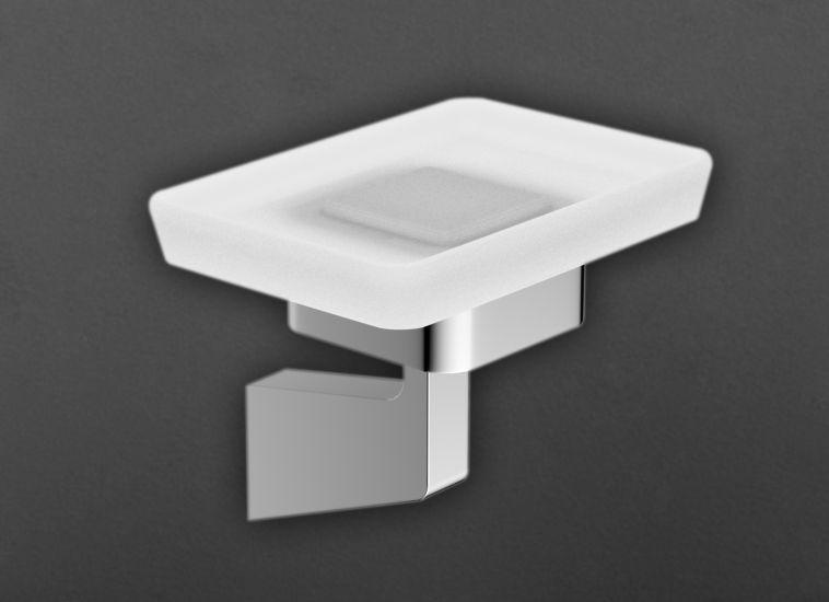 Techno AM-4199A ХромАксессуары для ванной<br>Держатель для мыльницы Art &amp; Max Techno AM-4199A, мыльница выполнена из стекла.<br>