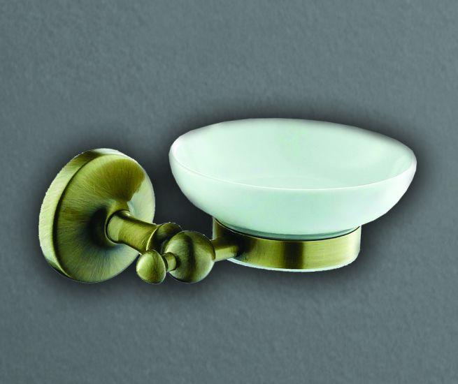 Antic AM-2699AQ БронзаАксессуары для ванной<br>Держатель для мыльницы Art &amp; Max Antic AM-2699AQ, мыльница выполнена из стекла.<br>