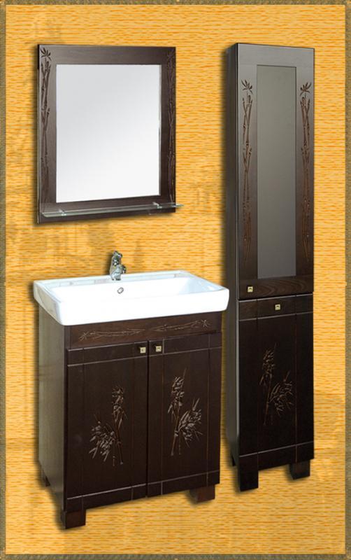 Leo 70  БамбукМебель для ванной<br>В комплект входит тумба. Все остальное приобретается отдельно.<br>