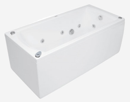 Linea 150 x 70 Economy 2Ванны<br>Ванна Pool Spa серия Linea, в комплект входит: ванна и рама.<br>Пневматическое управление. Водный массаж:<br>&amp;#8722; ротационные форсунки для спины.<br>&amp;#8722; ротационные форсунки для стоп.<br>&amp;#8722; боковые форсунки с возможностью регулировки направления водной струи. <br>&amp;#8722; независимая регулировка интенсивности массажа спины, боков и стоп аэрацией.<br>&amp;#8722; защита от сухого запуска насоса.<br>&amp;#8722; отвод воды после купания из системы водного массажа.<br>Воздушный массаж:<br>&amp;#8722; компрессор с подогревателем воздуха.<br>&amp;#8722; автоматическая озонация воды (озонатор встроен в компрессор).<br>&amp;#8722; система отведения воды после купания из воздушных каналов.<br>
