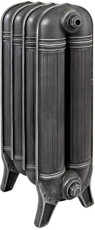 PRESTON 560 x13Радиаторы отопления<br>Цена указана за 13 секций. Чугунный радиатор, выполненный в античном стиле стиле. Межосевое расстояние - 560 мм. Максимальная рабочая температура - 110 °С. Максимальное рабочее давление - 10 бар. Диаметр подключения - 1 1/4 дюйма. Опрессовочное давление - 15 бар. Теплоотдача одной секции при температуре теплоносителя 60 градусов - 189 Вт. Объем одной секции - 3.29 л.  Высота одной секции - 730 мм. Глубина одной секции - 225 мм. Ширина одной секции - 80 мм. Радиаторы поставляются покрытые грунтовкой выбранного цвета. Дополнительно могут быть окрашены в один из цветов палитры RAL (глянец), NCS (матовый), комбинированная (основной цвет + акцент на узорах), покраска с патинацией (old gold; old silver, old cupper) и дизайнерское декорирование. Установочный комплект приобретается дополнительно.<br>
