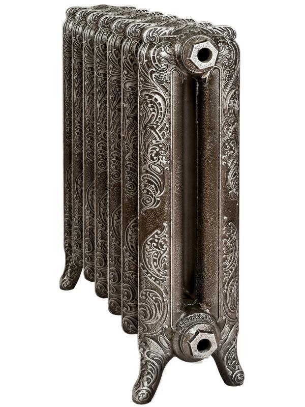 Windsor 500/180 x12Радиаторы отопления<br>Стоимость указана за 12 секций. Чугунный секционный радиатор RETROstyle Windsor 500/180 650x960x195 мм с боковым подключением. Межосевое расстояние - 500 мм. Радиаторы поставляются покрытые грунтовкой выбранного цвета. Дополнительно могут быть окрашены в один из цветов палитры RAL (глянец), NCS (матовый), комбинированный (основной цвет + акцент на узорах), покраска с патинацией (old gold; old silver, old cupper) и дизайнерское декорирование. Установочный комплект приобретается дополнительно.<br>