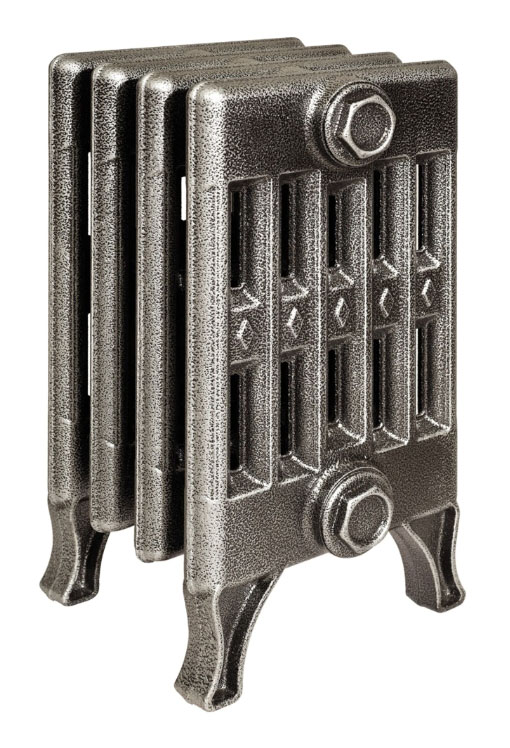 Verdun 270 x4Радиаторы отопления<br>Стоимость указана за 4 секции. Чугунный секционный радиатор RETROstyle Verdun 270 410x200x218 мм с боковым подключением. Межосевое расстояние - 270 мм. Радиаторы поставляются покрытые грунтовкой выбранного цвета. Дополнительно могут быть окрашены в один из цветов палитры RAL (глянец), NCS (матовый), комбинированный (основной цвет + акцент на узорах), покраска с патинацией (old gold; old silver, old cupper) и дизайнерское декорирование. Установочный комплект приобретается дополнительно.<br>