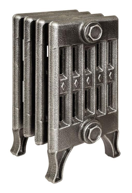 Verdun 270 x5Радиаторы отопления<br>Стоимость указана за 5 секций. Чугунный секционный радиатор RETROstyle Verdun 270 410x250x218 мм с боковым подключением. Межосевое расстояние - 270 мм. Радиаторы поставляются покрытые грунтовкой выбранного цвета. Дополнительно могут быть окрашены в один из цветов палитры RAL (глянец), NCS (матовый), комбинированный (основной цвет + акцент на узорах), покраска с патинацией (old gold; old silver, old cupper) и дизайнерское декорирование. Установочный комплект приобретается дополнительно.<br>