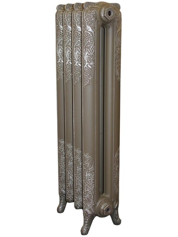 Windsor 800/180 x4Радиаторы отопления<br>Стоимость указана за 4 секции. Чугунный секционный радиатор RETROstyle Windsor 800/180 950x320x200 мм с боковым подключением. Межосевое расстояние - 800 мм. Радиаторы поставляются покрытые грунтовкой выбранного цвета. Дополнительно могут быть окрашены в один из цветов палитры RAL (глянец), NCS (матовый), комбинированный (основной цвет + акцент на узорах), покраска с патинацией (old gold; old silver, old cupper) и дизайнерское декорирование. Установочный комплект приобретается дополнительно.<br>