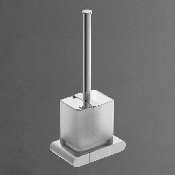 Platino AM-3981AL ХромАксессуары для ванной<br>Ершик Art&amp;Max Platino AM-3981AL для унитаза, крепится на стену.<br>
