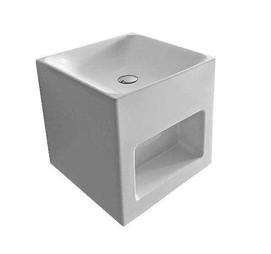 Cento 3538 БелыйРаковины<br>Современная раковина Kerasan Cento 3538 с необычной конструкцией, включающей встроенную полочку. Цвет исполнения – белый. Все дополнительные комплектующие приобретаются отдельно.<br>