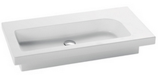 Iceberg LI81 БелыйРаковины<br>Раковина Nero Ceramica Iceberg LI81, шириной 810 мм. возможность установить смеситель на задней стенке или с угла. Цвет – белый. Все дополнительные комплектующие приобретаются отдельно.<br>