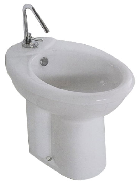 Hola 29040 БелыйБиде<br>Биде Althea Ceramica Hola 29040 с установкой на пол. Чаша овальная, белого цвета. Все дополнительные комплектующие приобретаются отдельно.<br>