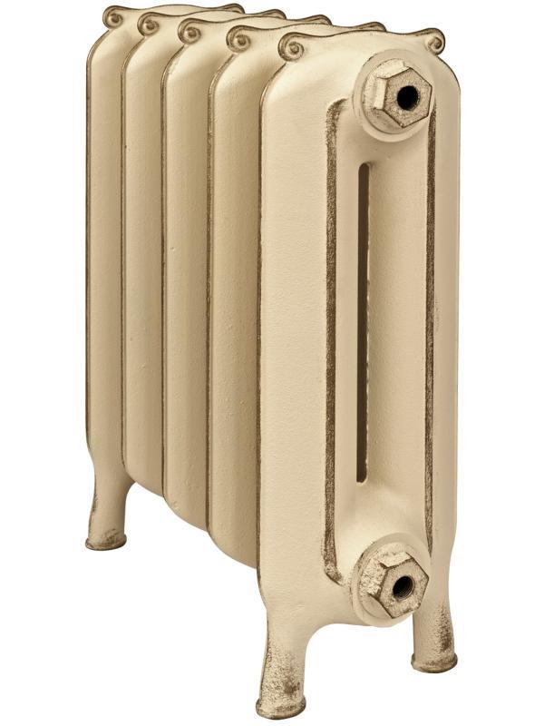 Telford 400 x5Радиаторы отопления<br>Стоимость указана за 5 секций. Чугунный секционный радиатор RETROstyle Telford 400 560x380x190 мм с боковым подключением. Межосевое расстояние - 400 мм. Радиаторы поставляются покрытые грунтовкой выбранного цвета. Дополнительно могут быть окрашены в один из цветов палитры RAL (глянец), NCS (матовый), комбинированный (основной цвет + акцент на узорах), покраска с патинацией (old gold; old silver, old cupper) и дизайнерское декорирование. Установочный комплект приобретается дополнительно.<br>
