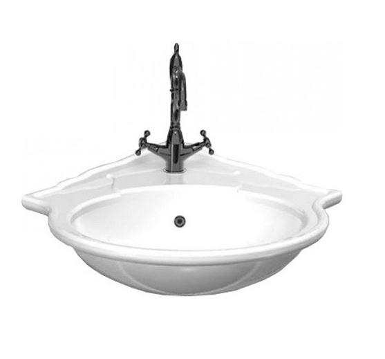 Royal 30353 БелыйРаковины<br>Стильная угловая раковина Althea Ceramica Royal 30353 в классическом стиле.  Цвет - белый. Все дополнительные комплектующие приобретаются отдельно.<br>