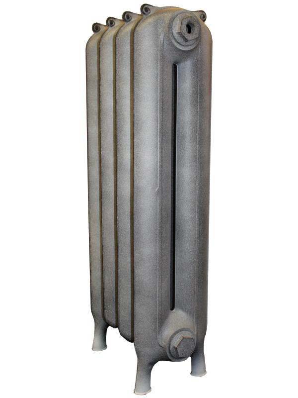 Telford 600 x4Радиаторы отопления<br>Стоимость указана за 4 секции. Чугунный секционный радиатор RETROstyle Telford 600 790x304x185 мм с боковым подключением. Межосевое расстояние - 650 мм. Радиаторы поставляются покрытые грунтовкой выбранного цвета. Дополнительно могут быть окрашены в один из цветов палитры RAL (глянец), NCS (матовый), комбинированная (основной цвет + акцент на узорах), покраска с патинацией (old gold; old silver, old cupper) и дизайнерское декорирование. Установочный комплект приобретается дополнительно.<br>