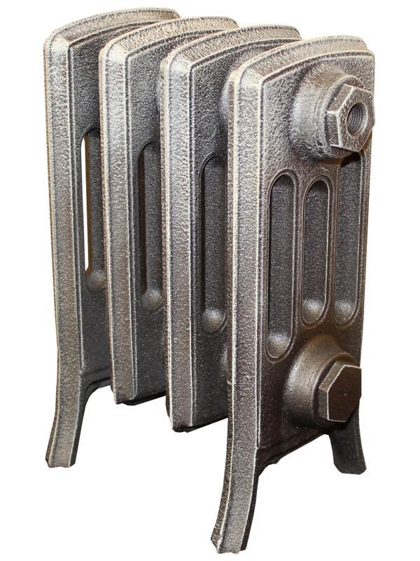 Derby М 4/200 x3Радиаторы отопления<br>Стоимость указана за 3 секции. Чугунный секционный радиатор RETROstyle Derby M 4/200 360x189x174 мм с боковым подключением. Межосевое расстояние - 200 мм. Радиаторы поставляются покрытые грунтовкой выбранного цвета. Дополнительно могут быть окрашены в один из цветов палитры RAL (глянец), NCS (матовый), комбинированный (основной цвет + акцент на узорах), покраска с патинацией (old gold; old silver, old cupper) и дизайнерское декорирование. Установочный комплект приобретается дополнительно.<br>