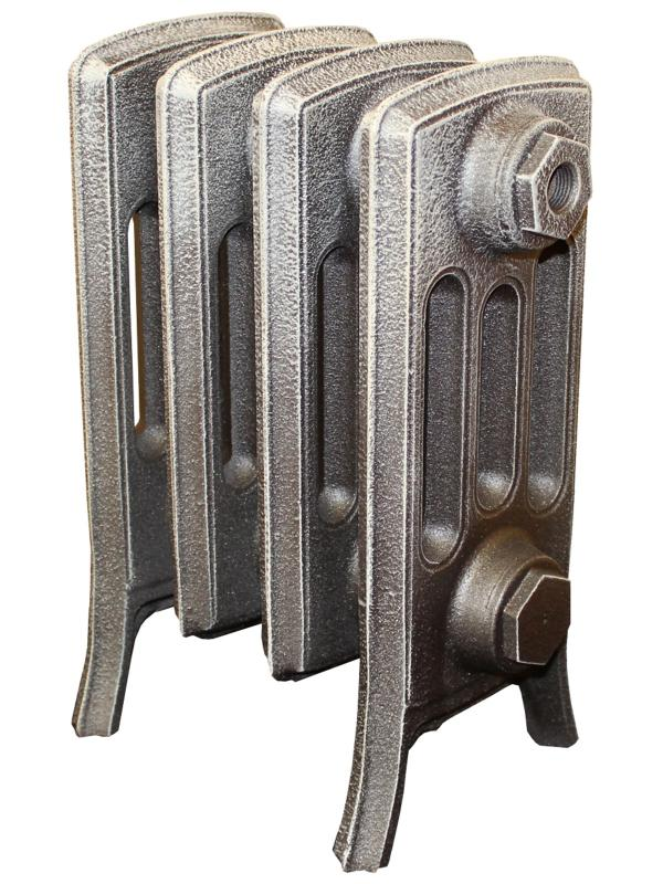 Derby М 4/200 x12Радиаторы отопления<br>Стоимость указана за 12 секций. Чугунный секционный радиатор RETROstyle Derby M 4/200 360x756x174 мм с боковым подключением. Межосевое расстояние - 200 мм. Радиаторы поставляются покрытые грунтовкой выбранного цвета. Дополнительно могут быть окрашены в один из цветов палитры RAL (глянец), NCS (матовый), комбинированный (основной цвет + акцент на узорах), покраска с патинацией (old gold; old silver, old cupper) и дизайнерское декорирование. Установочный комплект приобретается дополнительно.<br>