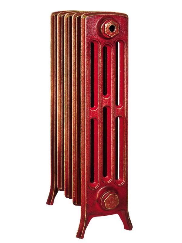 Derby М 4/500 x3Радиаторы отопления<br>Стоимость указана за 3 секции. Чугунный секционный радиатор RETROstyle Derby M 4/500 660x189x174 мм с боковым подключением. Межосевое расстояние - 500 мм. Радиаторы поставляются покрытые грунтовкой выбранного цвета. Дополнительно могут быть окрашены в один из цветов палитры RAL (глянец), NCS (матовый), комбинированный (основной цвет + акцент на узорах), покраска с патинацией (old gold; old silver, old cupper) и дизайнерское декорирование. Установочный комплект приобретается дополнительно.<br>