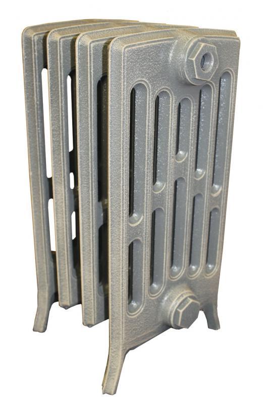 Derby М 6/350 x5Радиаторы отопления<br>Стоимость указана за 5 секций. Чугунный секционный радиатор RETROstyle Derby M 6/350 485x315x250 мм с боковым подключением. Межосевое расстояние - 350 мм. Радиаторы поставляются покрытые грунтовкой выбранного цвета. Дополнительно могут быть окрашены в один из цветов палитры RAL (глянец), NCS (матовый), комбинированный (основной цвет + акцент на узорах), покраска с патинацией (old gold; old silver, old cupper) и дизайнерское декорирование. Установочный комплект приобретается дополнительно.<br>