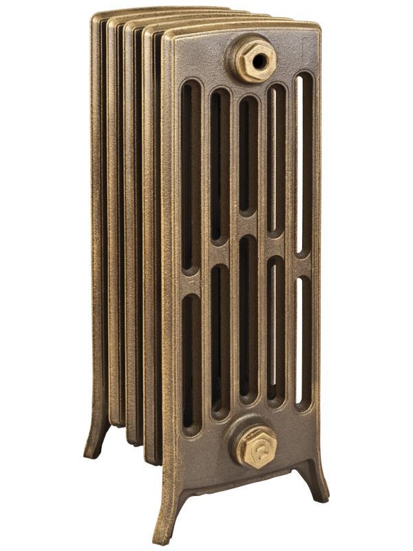 Derby М 6/600 x3Радиаторы отопления<br>Стоимость указана за 3 секции. Чугунный секционный радиатор RETROstyle Derby M 6/600 760x189x250 мм с боковым подключением. Межосевое расстояние - 600 мм. Радиаторы поставляются покрытые грунтовкой выбранного цвета. Дополнительно могут быть окрашены в один из цветов палитры RAL (глянец), NCS (матовый), комбинированный (основной цвет + акцент на узорах), покраска с патинацией (old gold; old silver, old cupper) и дизайнерское декорирование. Установочный комплект приобретается дополнительно.<br>