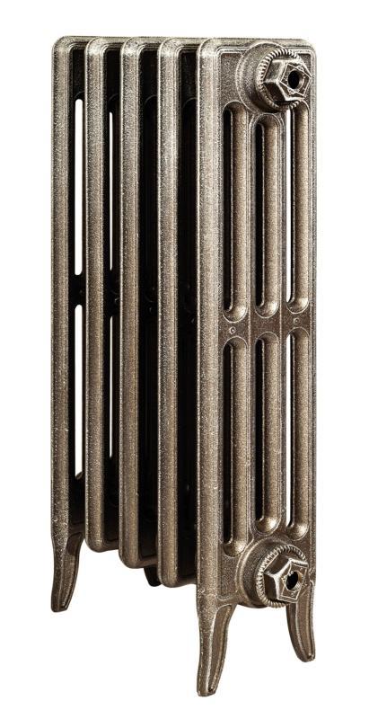 Derby 500 x7Радиаторы отопления<br>Стоимость указана за 7 секций. Чугунный секционный радиатор RETROstyle Derby 500 655x420x135 мм с боковым подключением. Межосевое расстояние - 500 мм. Радиаторы поставляются покрытые грунтовкой выбранного цвета. Дополнительно могут быть окрашены в один из цветов палитры RAL (глянец), NCS (матовый), комбинированная (основной цвет + акцент на узорах), покраска с патинацией (old gold; old silver, old cupper) и дизайнерское декорирование. Установочный комплект приобретается дополнительно.<br>