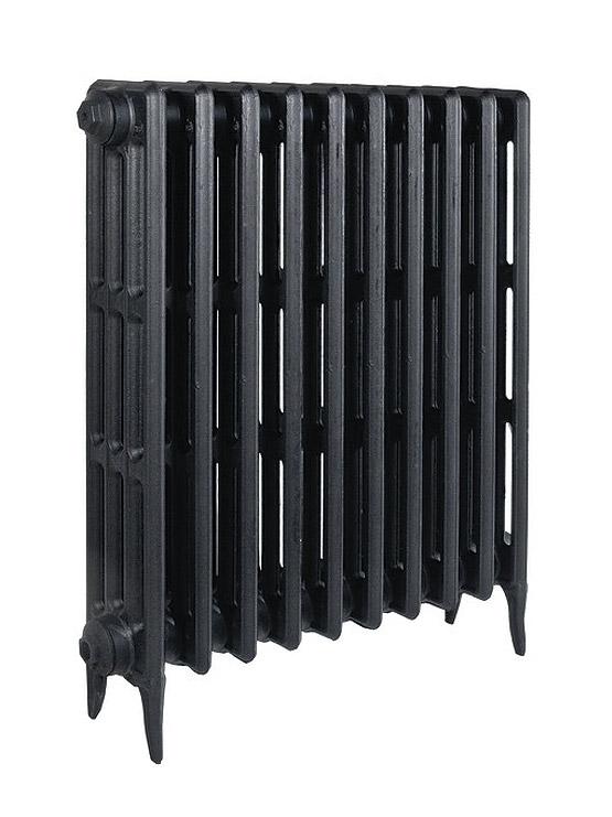 Derby 600 x9Радиаторы отопления<br>Стоимость указана за 9 секций. Чугунный секционный радиатор RETROstyle Derby 600 760x540x135 мм с боковым подключением. Межосевое расстояние - 600 мм. Радиаторы поставляются покрытые грунтовкой выбранного цвета. Дополнительно могут быть окрашены в один из цветов палитры RAL (глянец), NCS (матовый), комбинированный (основной цвет + акцент на узорах), покраска с патинацией (old gold; old silver, old cupper) и дизайнерское декорирование. Установочный комплект приобретается дополнительно.<br>