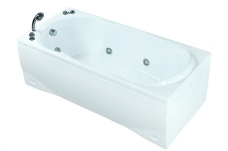 Prima A без гидромассажа (белая)Ванны<br>Акриловая ванна Doctor Jet Prima A. Стоимость указана за ванну на раме со сливом переливом, без гидромассажа и фронтальной панели. Фурнитура белая.<br>