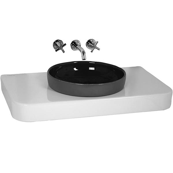 Water Jewels 4362B003-0907 БелаяРаковины<br>Столешница Vitra Water Jewels 4362B003-0907 с отверстием для раковины, 800 мм с отверстием под смеситель с правой стороны.<br>