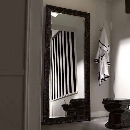 Retro 7366 чёрный 01Мебель для ванной<br>Зеркало Kerasan Retro 7366 Nero Lucido для ванной комнаты. Напольное.<br>