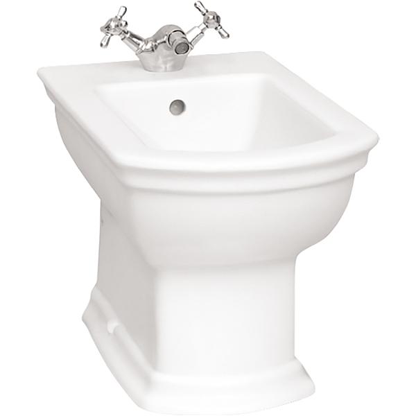 Serenada 4163B003-0061 напольное БелоеБиде<br>Биде Vitra Serenada 4163B003-0061 напольное.<br>Изысканный классический дизайн изделия украсит любую ванную комнату.<br>Материал: санфарфор толщиной 18 мм, не впитывающий грязь.<br>Одно отверстие под смеситель.<br>Слив-перелив..<br>