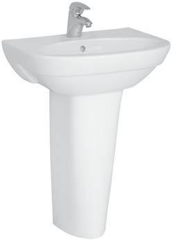 Form 500 4293B003-0001 БелаяРаковины<br>Раковина Vitra Form 500 4293B003-0001  с отверстием под смеситель и перелив.<br>