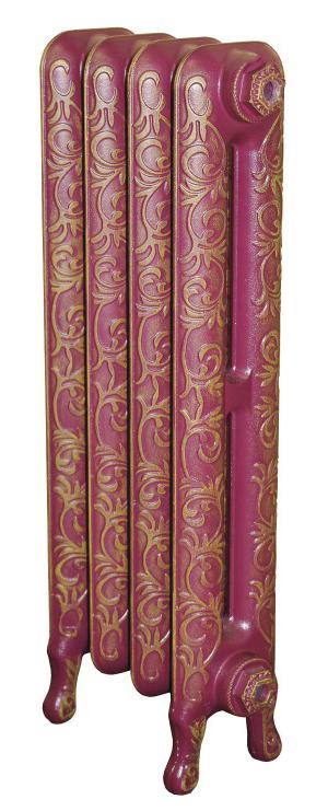 Leeds x1Радиаторы отоплени<br>Стоимость указана за 1 секци. Чугунный секционный радиатор RETROstyle Leeds 745x70x145 мм с боковым подклчением. Межосевое расстоние - 600 мм. Радиаторы поставлтс покрытые грунтовкой выбранного цвета. Дополнительно могут быть окрашены в один из цветов палитры RAL (глнец), NCS (матовый), комбинированный (основной цвет + акцент на узорах), покраска с патинацией (old gold; old silver, old cupper) и дизайнерское декорирование. Установочный комплект приобретаетс дополнительно.<br>
