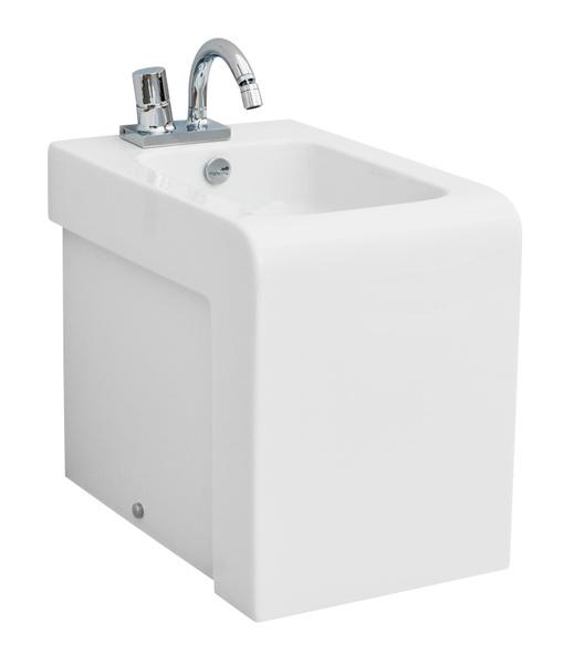 La Fontana LFB004 01 00 БелыйБиде<br>Напольное Биде Artceram La Fontana LFB004 01 00 с прямоугольной формой чаши выполнено в минималистичном стиле. Цвет исполнения – белый.<br>