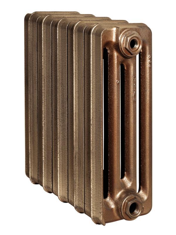 Toulon 350/160 x3Радиаторы отопления<br>Стоимость указана за 3 секции. Чугунный секционный радиатор RETROstyle Toulon 350/160 430x180x160 мм с боковым подключением. Межосевое расстояние - 350 мм. Радиаторы поставляются покрытые грунтовкой выбранного цвета. Дополнительно могут быть окрашены в один из цветов палитры RAL (глянец), NCS (матовый), комбинированный (основной цвет + акцент на узорах), покраска с патинацией (old gold; old silver, old cupper) и дизайнерское декорирование. Установочный комплект приобретается дополнительно.<br>