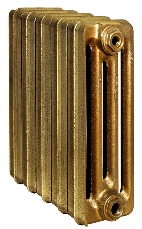 Toulon 500/110 x5Радиаторы отопления<br>Стоимость указана за 5 секций. Чугунный секционный радиатор RETROstyle Toulon 500/110 580x300x110 мм с боковым подключением. Межосевое расстояние - 500 мм. Радиаторы поставляются покрытые грунтовкой выбранного цвета. Дополнительно могут быть окрашены в один из цветов палитры RAL (глянец), NCS (матовый), комбинированный (основной цвет + акцент на узорах), покраска с патинацией (old gold; old silver, old cupper) и дизайнерское декорирование. Установочный комплект приобретается дополнительно.<br>