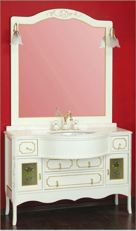 Malaga 125 Noce (орех)Мебель для ванной<br>Мебель для ванной Migliore Malaga 125. В комплекть поставки входят тумба с раковиной и зеркало со светильниками.<br>