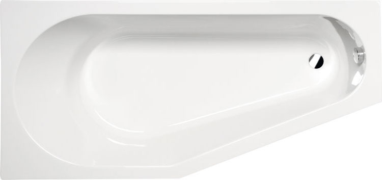 Tigra 170x80 L БелаяВанны<br>Ванна акриловая Alpen Tigra 170x80 L асимметричной формы.<br>