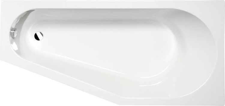 Tigra 170x80 R БелаяВанны<br>Ванна акриловая Alpen Tigra 170x80 R асимметричной формы.<br>