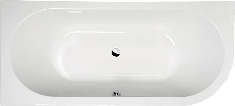 Viva 175x80 L БелаяВанны<br>Ванна акриловая Alpen Viva 175x80 L асимметричной формы.<br>