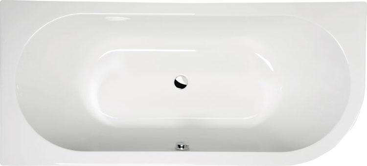 Viva 185x80 L БелаяВанны<br>Ванна акриловая Alpen Viva 185x80 L асимметричной формы.<br>