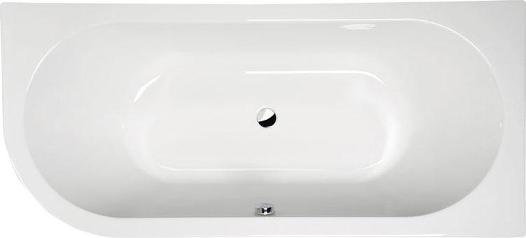Viva 185x80 R БелаяВанны<br>Ванна акриловая Alpen Viva 185x80 R асимметричной формы.<br>