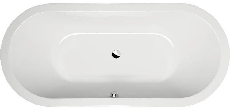 Viva O 175x80 БелаяВанны<br>Ванна акриловая Alpen Viva O 175x80 асимметричной формы.<br>