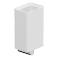 Living LV500301 Белый ХромАксессуары для ванной<br>Стакан для зубных щеток Webert Living LV500301015 в ванную комнату. Изделие оснащено настенным держателем.<br><br>Материал стакана: керамика.<br>Материал держателя: высококачественная латунь.<br>Покрытие: глянцевый хром.<br>Высота стакана: 14,5 см.<br><br>