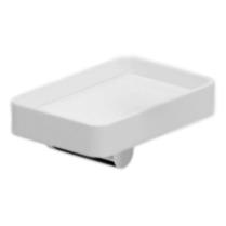 Living LV500101 Белый/хромАксессуары для ванной<br>Мыльница с настенным держателем Webert Living LV500101015.<br><br>Чаша мыльницы керамическая.<br>Материал держателя: высококачественная латунь.<br>Покрытие держателя: глянцевый хром.<br>Размер: 12 x 8 см.<br><br>
