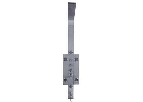Tender 1 Стальной корпусДушевые панели<br>Душевая панель AM PM Tender 1, со смесителем, 6 вертикальных форсунок, верхний и ручной душ.<br>