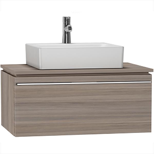 System Fit 80 подвесная Серый дубМебель для ванной<br>Тумба под раковину подвесная Vitra System Fit 53775.<br>Современный и универсальный стиль тумбы дополнит интерьер любой ванной комнаты.<br>Размер: 80х53х37,4 см.<br>Покрытие из натурального шпона. В комплекте поставки: тумба.<br>