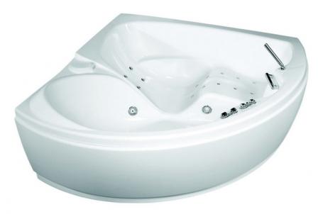 Forza 163x163 без гидромассажа (хром)Ванны<br>Полиакриловая ванна Doctor Jet Forza. Стоимость указана за ванну на раме со сливом переливом, без гидромассажа и фронтальной панели. Фурнитура хром.<br>