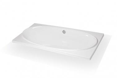 Casta (в подиум) без гидромассажа (белая)Ванны<br>Полиакриловая ванна Doctor Jet Casta (в подиум). Стоимость указана за ванну на раме со сливом переливом. Фурнитура белая.<br>