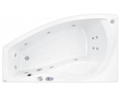 Nicole 160 x 95 R TitaniumВанны<br>Ванна Pool Spa серия Nicole, в комплект входит: ванна и рама.<br>Электронное управление. Водный массаж:<br>&amp;#8722; ротационные форсунки для спины.<br>&amp;#8722; ротационные форсунки для стоп.<br>&amp;#8722; боковые форсунки с возможностью регулировки направления водной струи. <br>&amp;#8722; электронная регулировка интенсивности массажа спины.<br>&amp;#8722; электронная регулировка интенсивности массажа боков и стоп.<br>&amp;#8722; пульсационный массаж.<br>&amp;#8722; датчик уровня воды.<br>&amp;#8722; датчик температуры воды.<br>&amp;#8722; защита от сухого запуска насоса.<br>&amp;#8722; отвод воды после купания из системы водного массажа.<br>Воздушный массаж:<br>&amp;#8722; компрессор с нагревателем воздуха.<br>&amp;#8722; автоматическое озонирование воды (озонатор встроен в компрессор).<br>&amp;#8722; электронная регулировка интенсивности воздушного массажа.<br>&amp;#8722; пульсационный массаж.<br>&amp;#8722; отвод воды после купания из системы воздушного массажа.<br>&amp;#8722; автоматическое осушение воздушной системы теплым воздухом после купания.<br>Дисплей функций, времени и температуры воды, подводное освещение (галогеновое белое), автоматическая дезинфекция (при наполненной ванне), хромотерапия.<br>Запрограммированное максимальное время купания 30 минут.<br>
