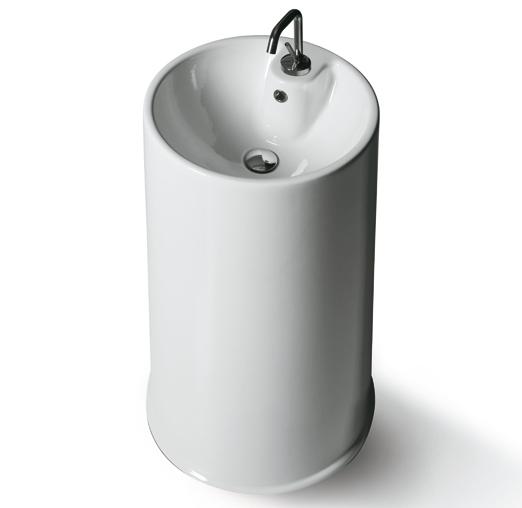 Top Lavabi GTE БелаяРаковины<br>Раковина Simas Top Lavabi GTE с необычным дизайном. Цвет - белый. Отлично подойдет для установки на пол ванной комнаты. В комплект поставки входит чаша раковины.<br>